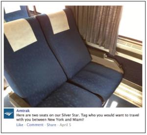 Amtrak Facebook Post