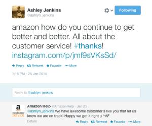Ashley's Amazon Tweet