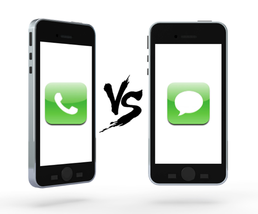 Calling vs Texting
