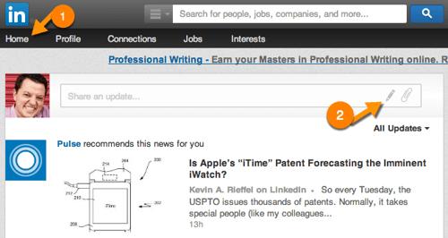 LinkedIn Publishing Screen shot #1
